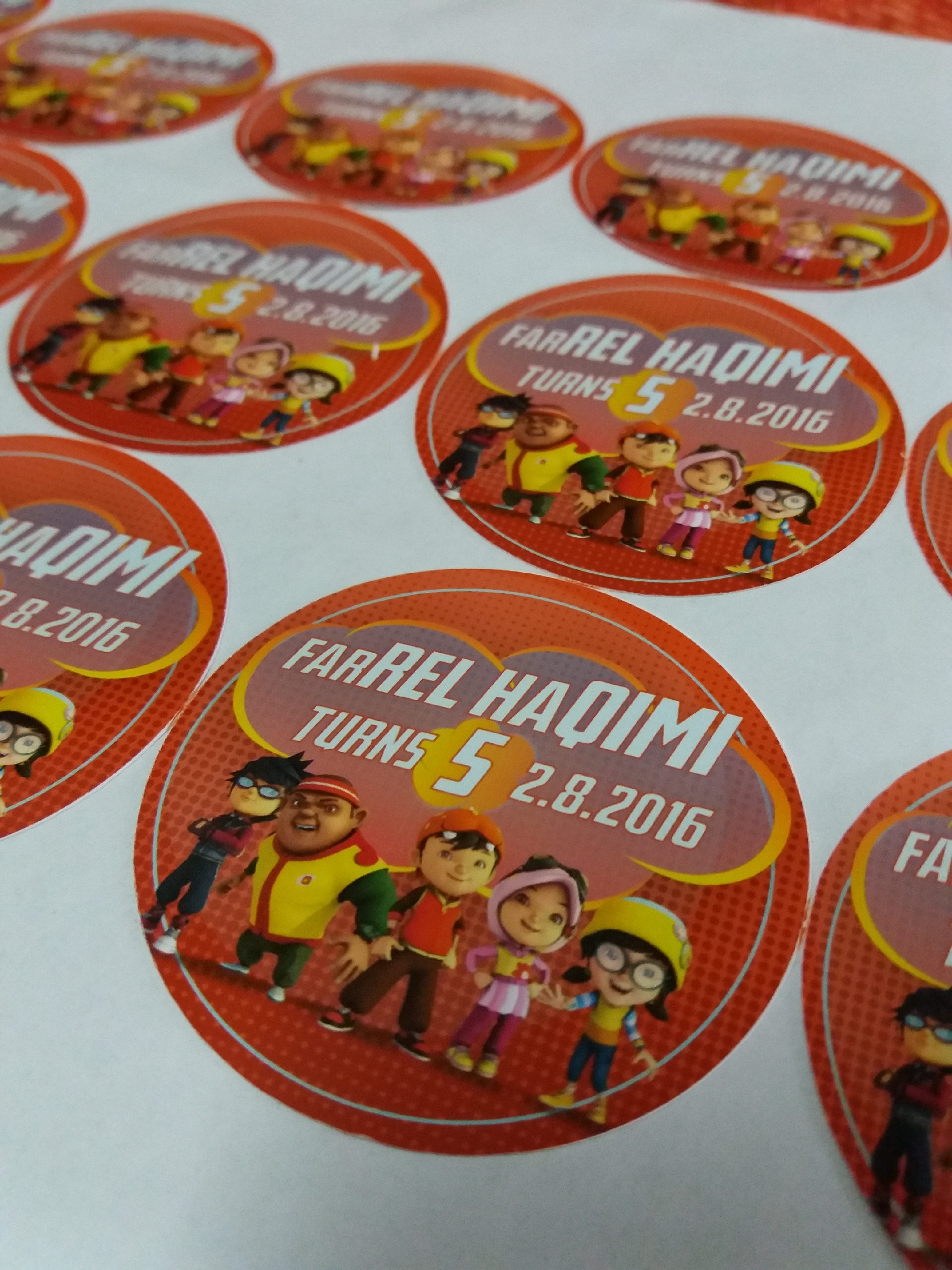 Custom Sticker Majlis Hari Jadi Anak - Birthday Party