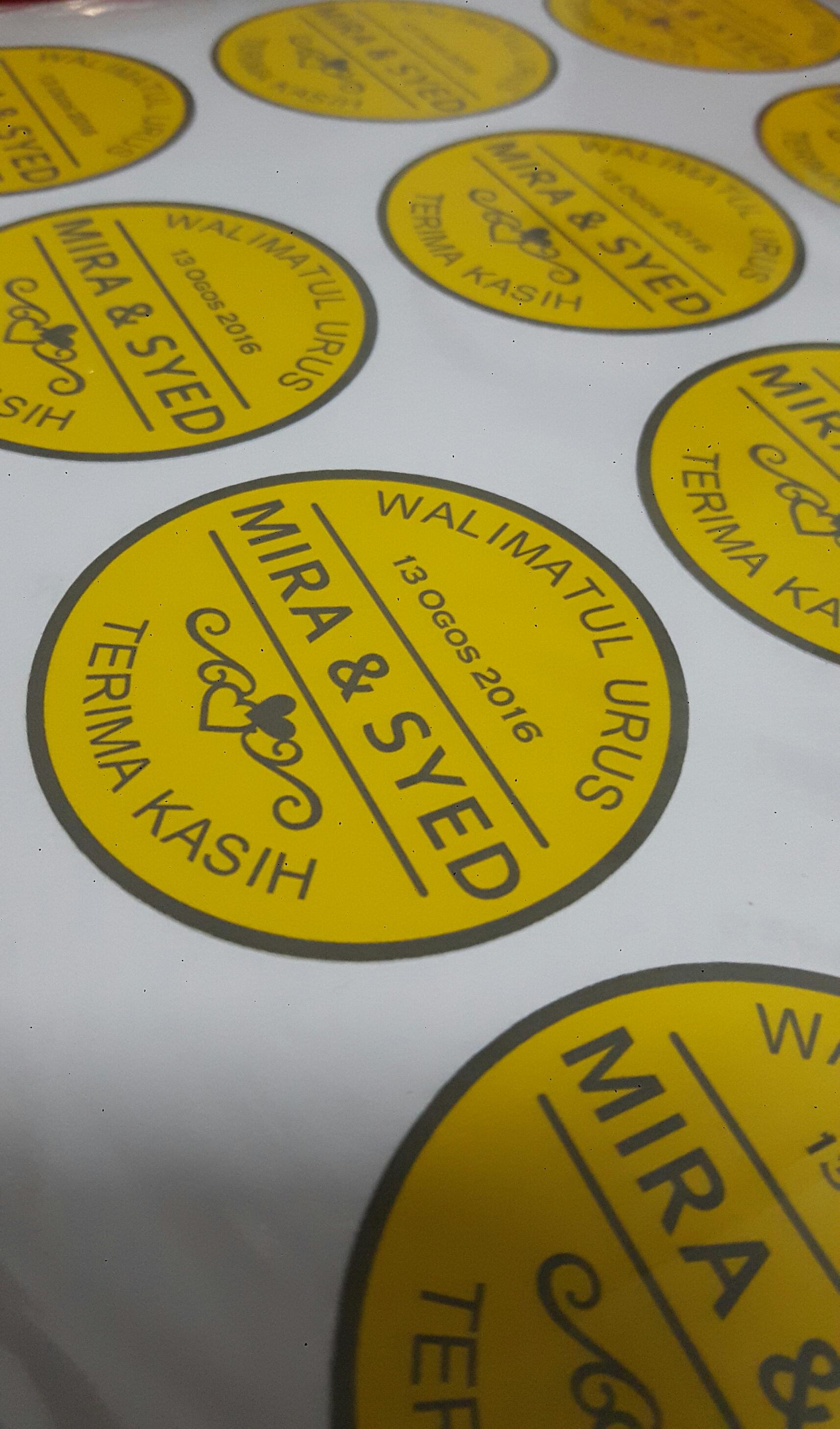 Custom Sticker Majlis Kahwin - Wedding Ceremony