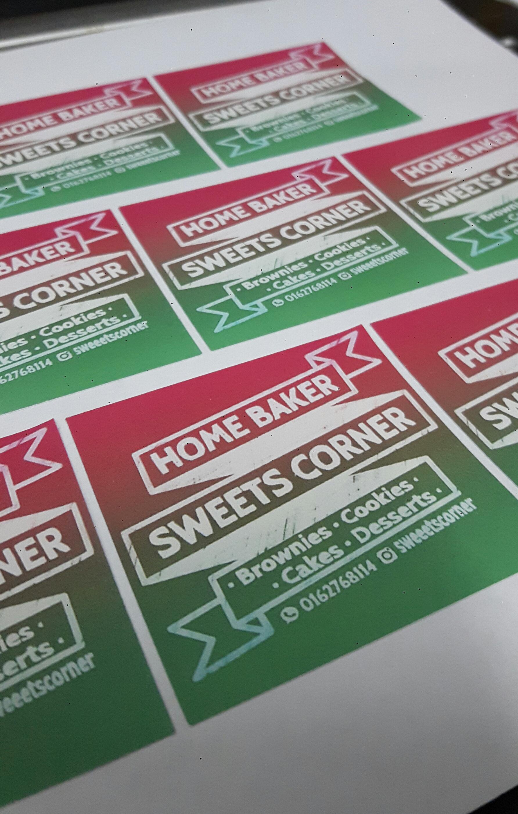 Custom Sticker Label Produk Makanan - Biskut - Cookie - Kek - Cake - Brownies