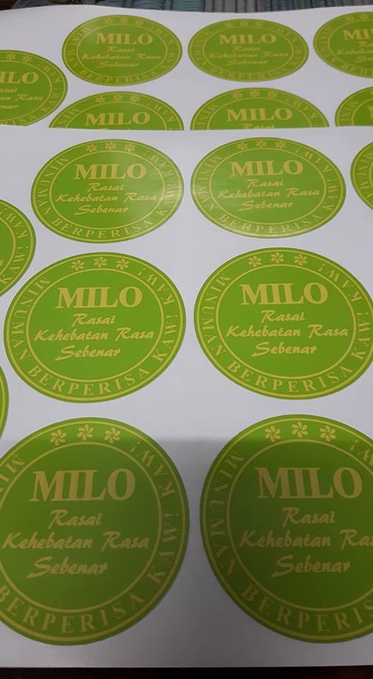 Custom Sticker Label Produk Makanan - Air - Big Cup
