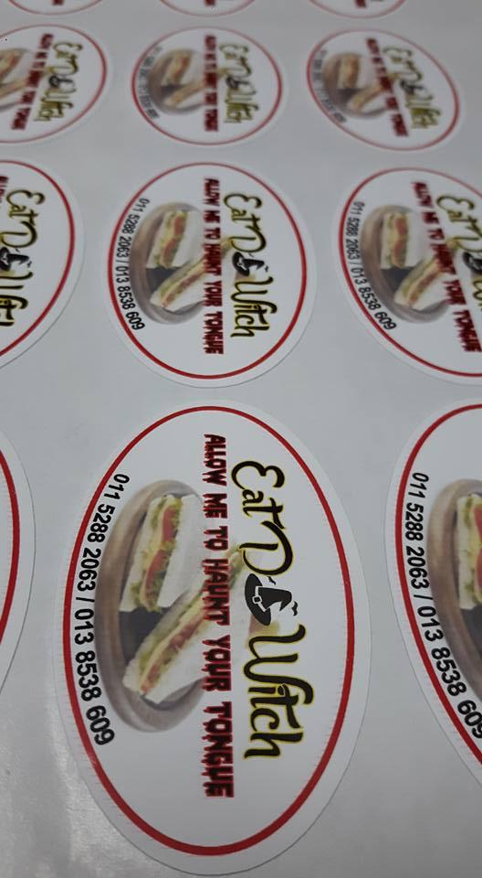 Custom Sticker Label Produk Makanan