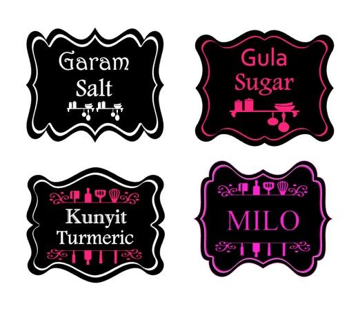 Custom Sticker Label Barang Dapur - Bahan Masak - Rempah