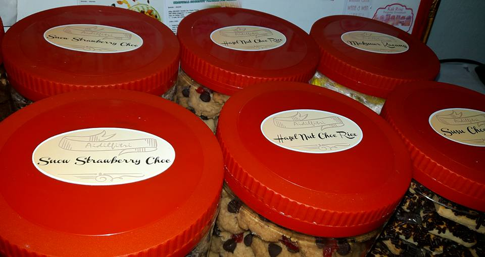 Custom Sticker Label Produk Makanan - Biskut - Cookies