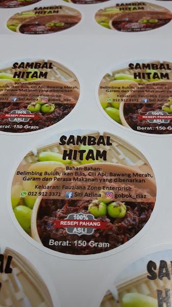 Custom Sticker Label Produk Makanan - Sambal Hitam Pahang - Belimbing Buluh