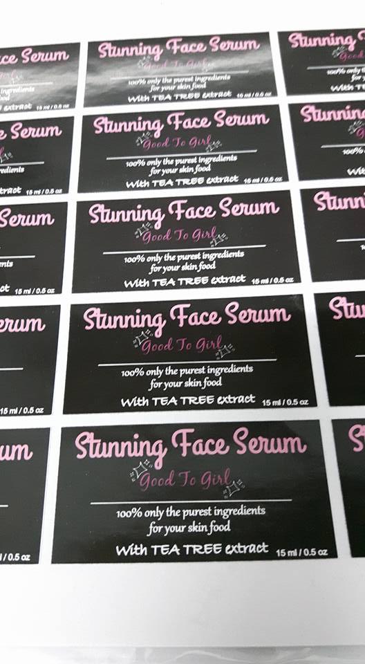 Custom Sticker Label Produk Kosmetik - Serum Muka