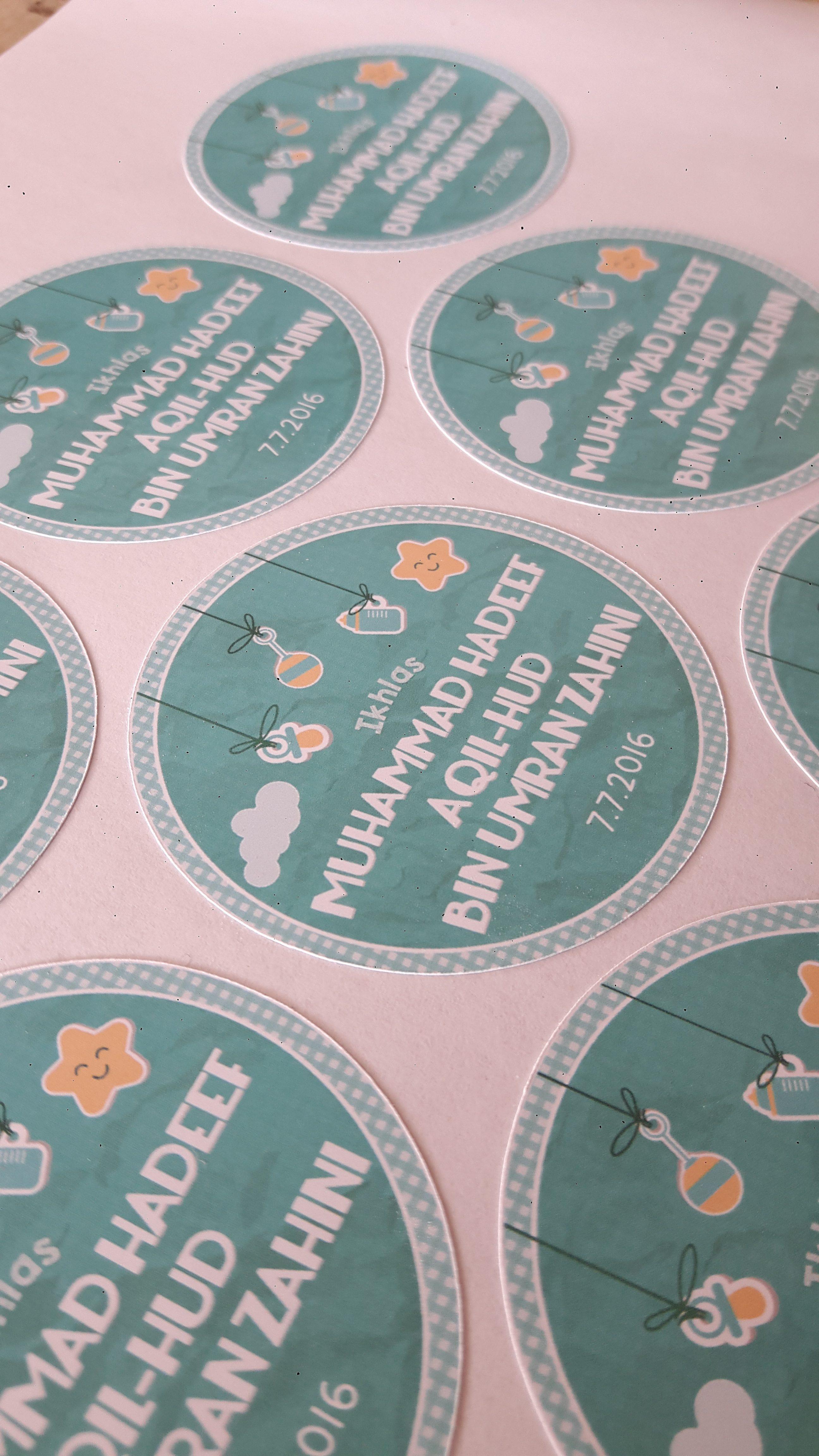 Custom Sticker Majlis Aqiqah - Baby Shower